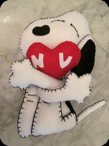 Un romantico Snoopy